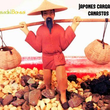Japonés cargando canastos (...